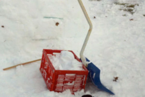 Super-handy igloo building supplies