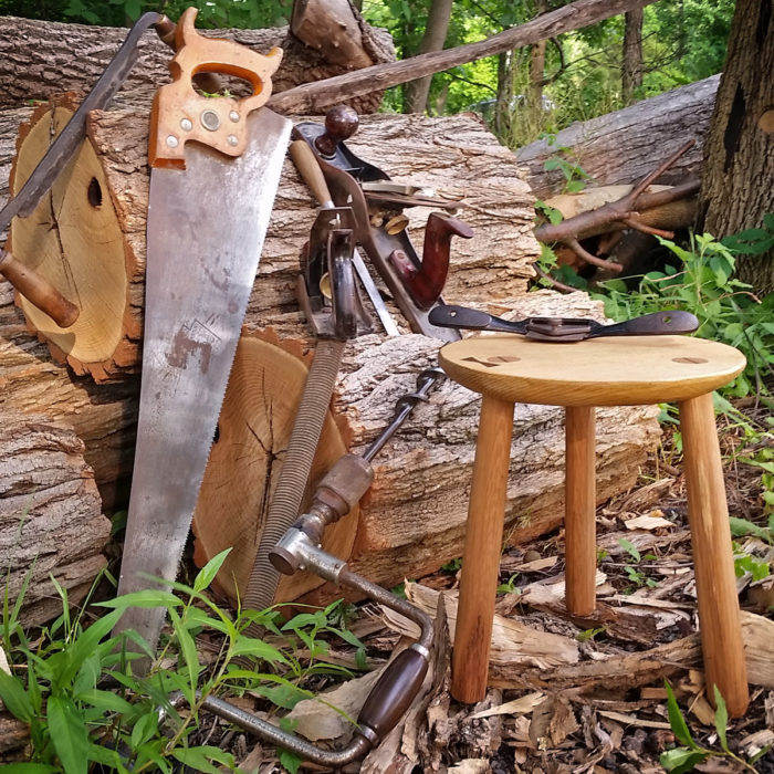 Miraculous Hand Tool Woodworking Making A 3 Legged Stool Wild Earth Ibusinesslaw Wood Chair Design Ideas Ibusinesslaworg